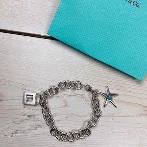 Tiffany & Co | Charm Bracelet w/Starfish & L Charm
